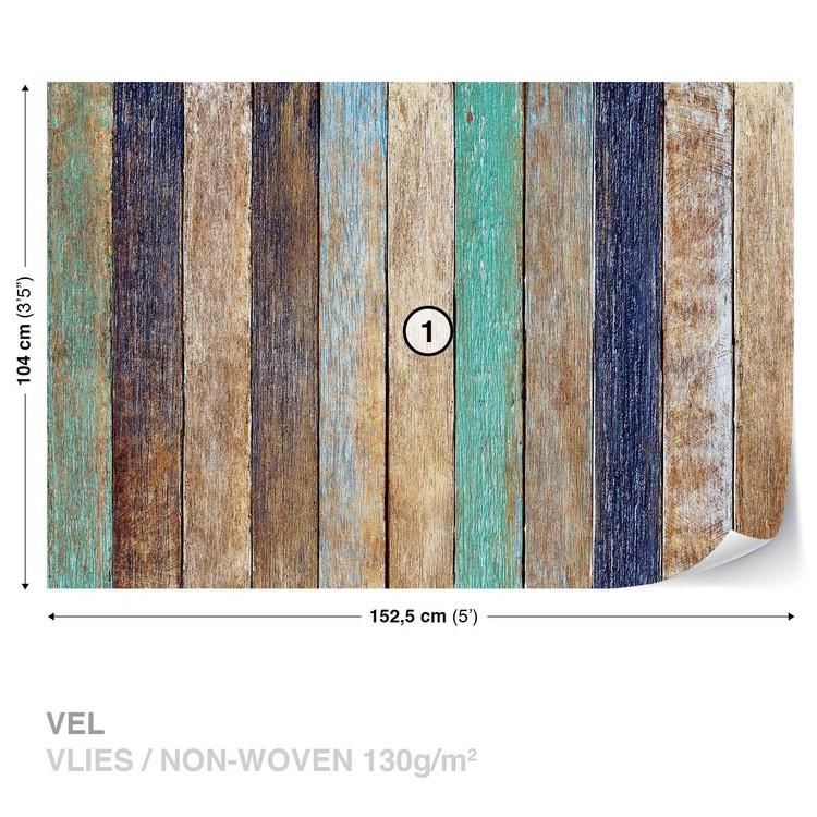 Fotomurale tablones de la cerca de madera papel pintado for Tablones de madera precios