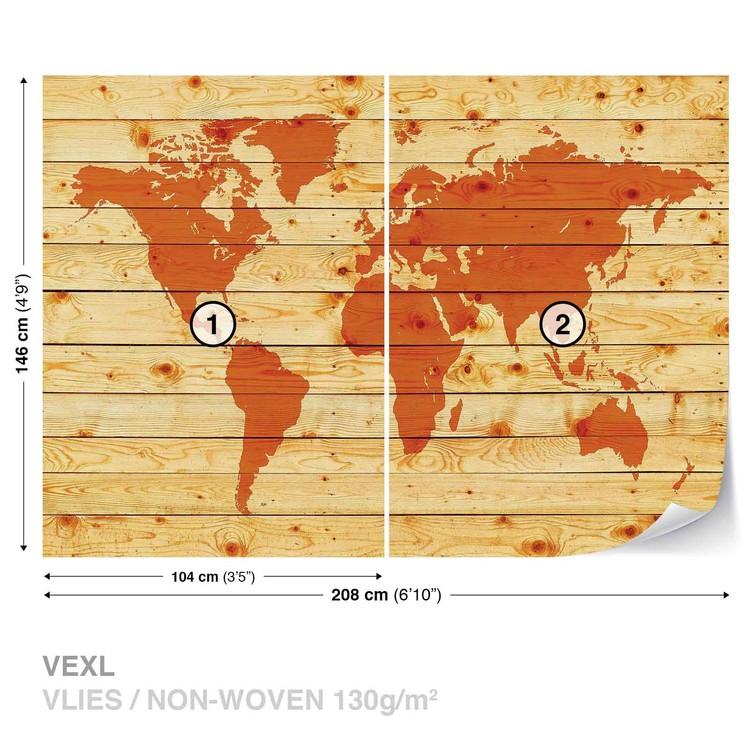 planches de bois de carte du monde poster mural papier peint acheter le sur. Black Bedroom Furniture Sets. Home Design Ideas