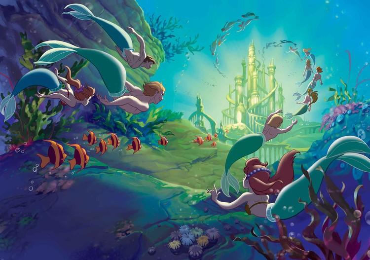 Fototapeta, Tapeta Disney Malá mořská víla Ariel, (368 x 254 cm) 368x254 cm - 115g/m2 Paper