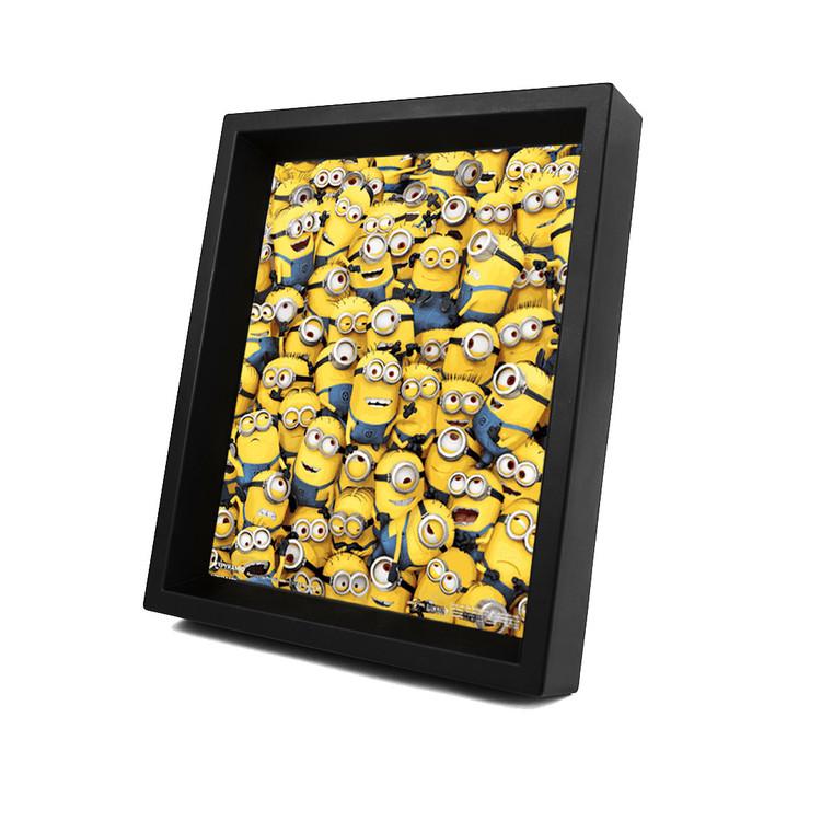 Minions (Verschrikkelijke Ikke) - Many Minions 3D Innrammet