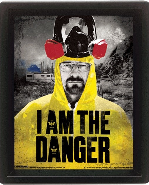 Breaking Bad - I am the danger 3D plakat indrammet