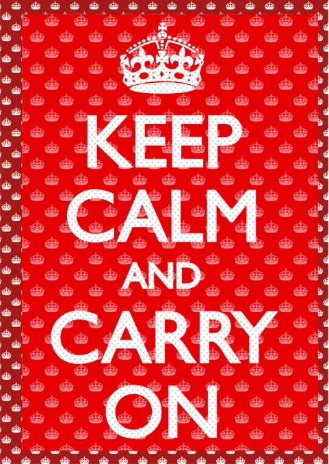 Keep calm and carry on 3D Plakat