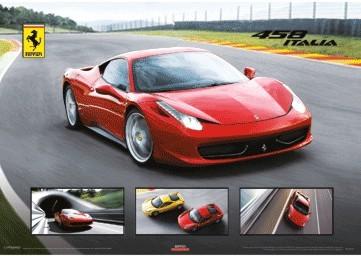 Ferrari 458 Italia 3D Plakat