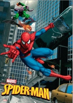 SPIDER-MAN - swing 3D Plakat