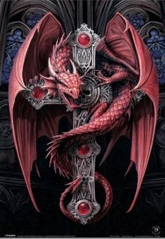3D Plakát, 3D Obraz ANNE STOKES - gothic dragon