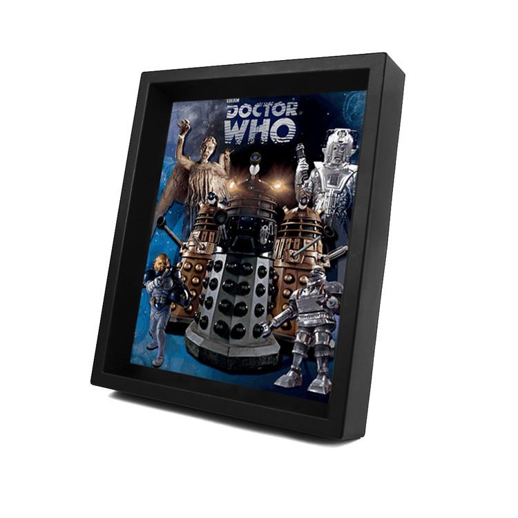 3D Plakát, Obraz s rámem  DOCTOR WHO - aliens