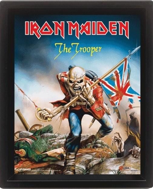 3D plakát s rámem Iron Maiden - The Trooper