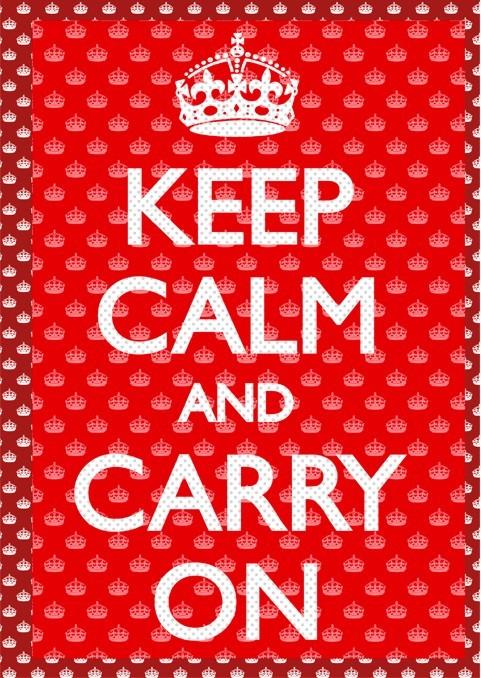 Keep calm and carry on 3D plakát