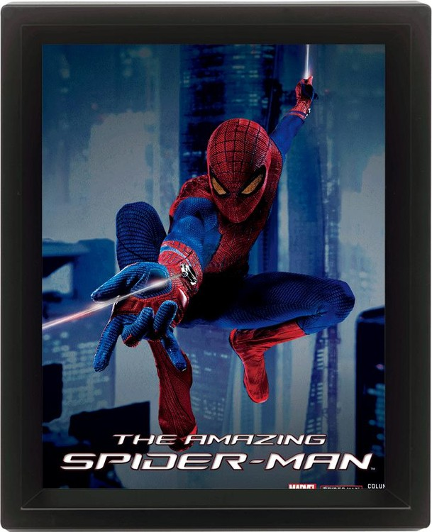 SPIDER-MAN 3D plakát keretezve