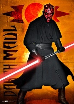 STAR WARS - darth maul 3D Poszter