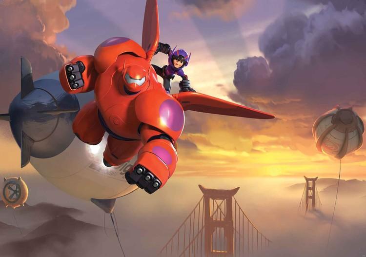 Fototapeta, Tapeta Disney Big Hero 6 - Velká šestka, (312 x 219 cm) 312x219 cm - 130g/m2 Vlies Non-Woven