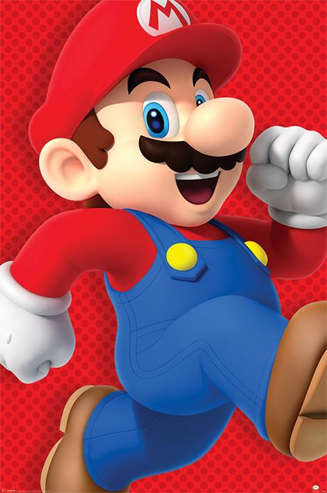 Plakát, Obraz - Super Mario - Run, (61 x 91,5 cm)