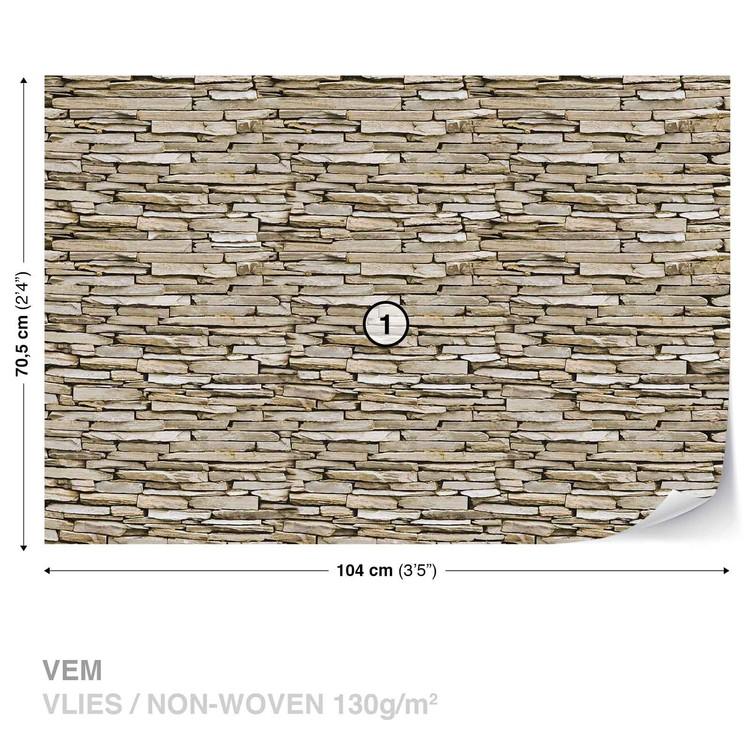 Fotomurale pared de piedra papel pintado - Papel pared piedra ...