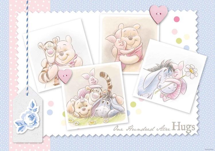 Fototapeta, Tapeta Disney Medvídek Pú a Prasátko, Tygřík, (416 x 254 cm) 416x254 cm - 130g/m2 Vlies Non-Woven
