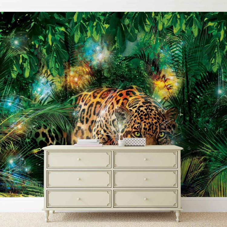 Fototapete urwald  Fototapete, Tapete Leopard Dschungel bei EuroPosters