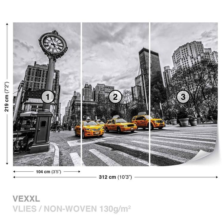 New york city taxi poster mural papier peint acheter le - Poster mural xxl new york ...