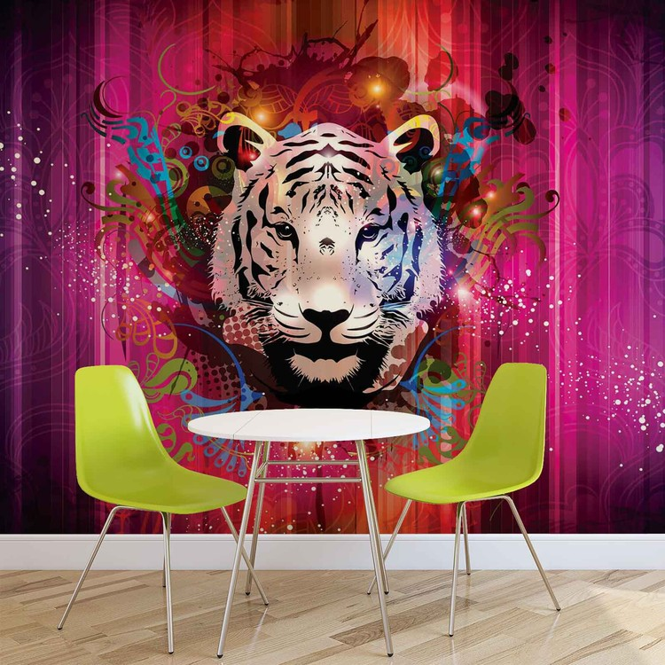 tigre abstrait poster mural papier peint acheter le sur. Black Bedroom Furniture Sets. Home Design Ideas