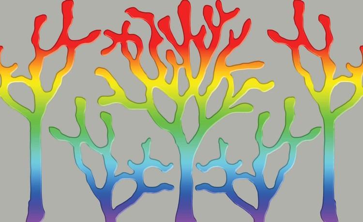 Fototapeta, Tapeta Duhový strom Abstraktní umění, (368 x 254 cm) 368x254 cm - 115g/m2 Paper