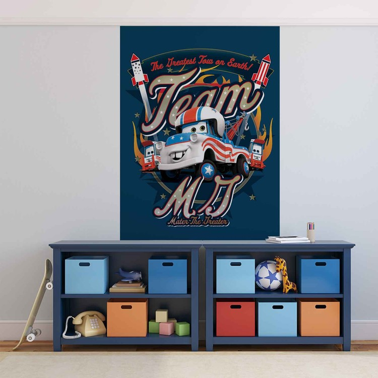 Fototapeta, Tapeta Disney Auta, Cars, (254 x 184 cm) 254x184 cm - 115g/m2 Paper