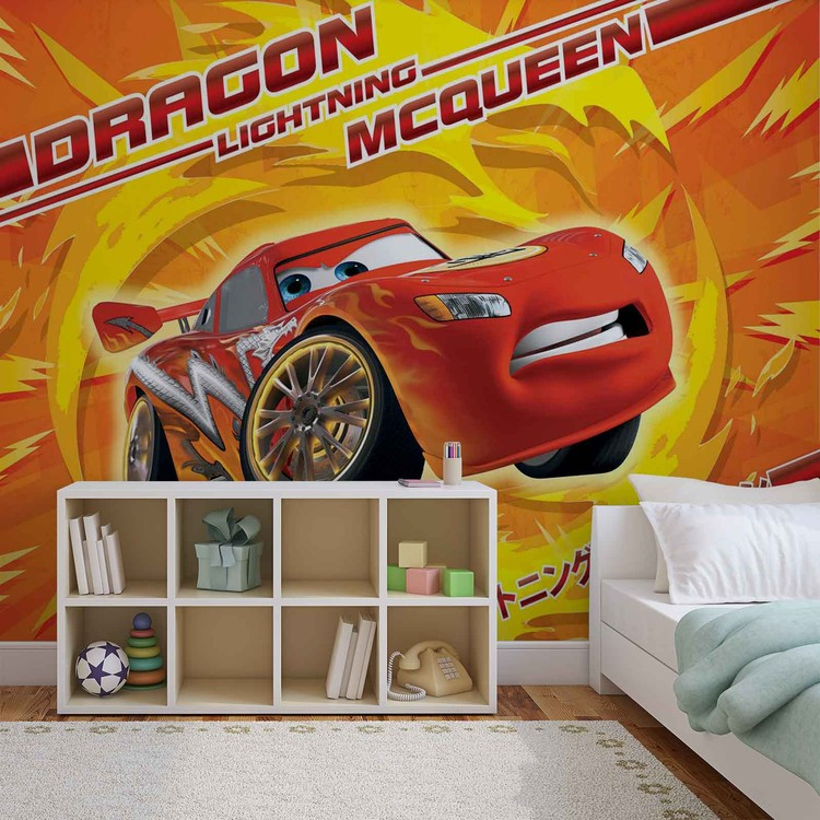 fototapete tapete disney cars lightning mcqueen bei. Black Bedroom Furniture Sets. Home Design Ideas