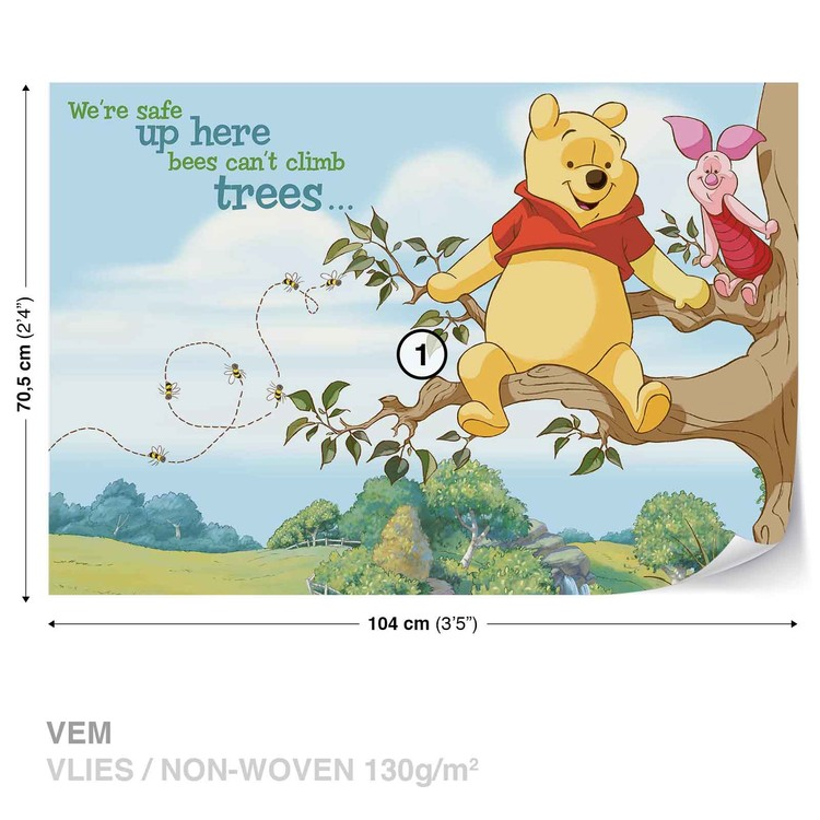 Carta da parati disney winnie pooh pimpi for Winnie pooh ka che
