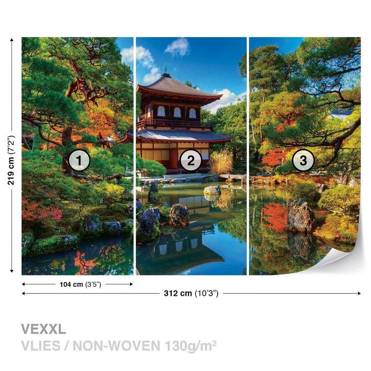 Temple zen culture japonaise poster mural papier peint for Poster xxl mural zen