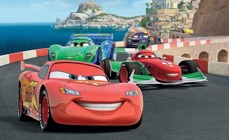 Fototapeta, Tapeta Disney Auta, Cars McQueen, (254 x 184 cm) 254x184 cm - 115g/m2 Paper