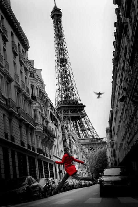 Plakát, Obraz - Paříž - la veste rouge, (61 x 91,5 cm)