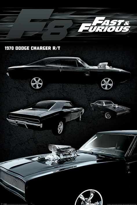 Plakát, Obraz - Rychle a zběsile - Dodge Charger, (61 x 91,5 cm)