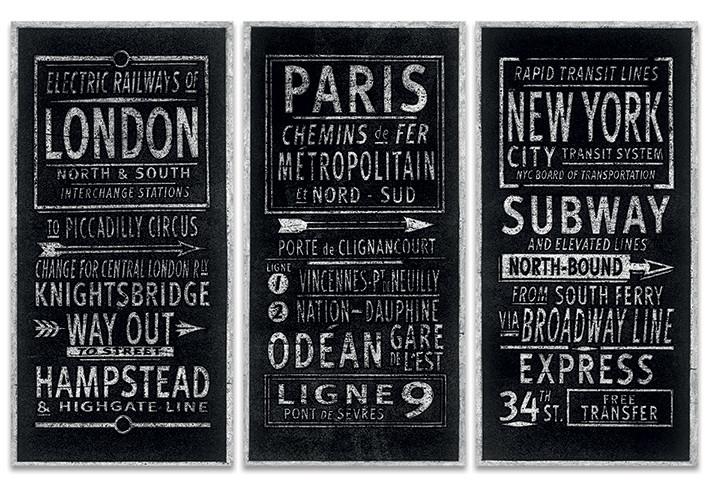 Obraz na plátně Barry Goodman - London Paris New York, (150 x 100 cm)