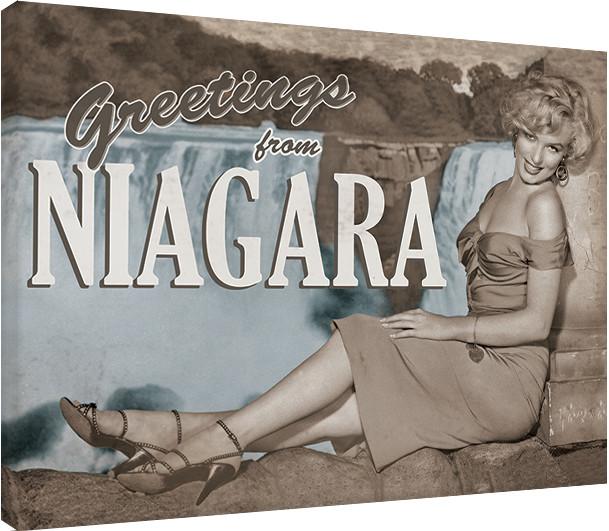 Obraz na plátně Marilyn Monroe - Niagara, (80 x 60 cm)