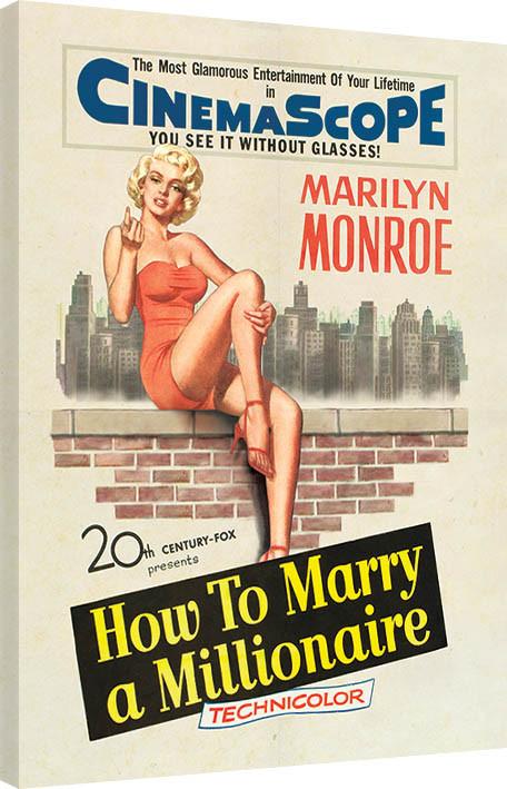 Obraz na plátně Marilyn Monroe - Millionaire, (60 x 80 cm)