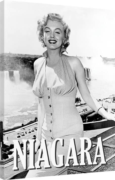 Obraz na plátně Marilyn Monroe - Niagara Pose, (60 x 80 cm)