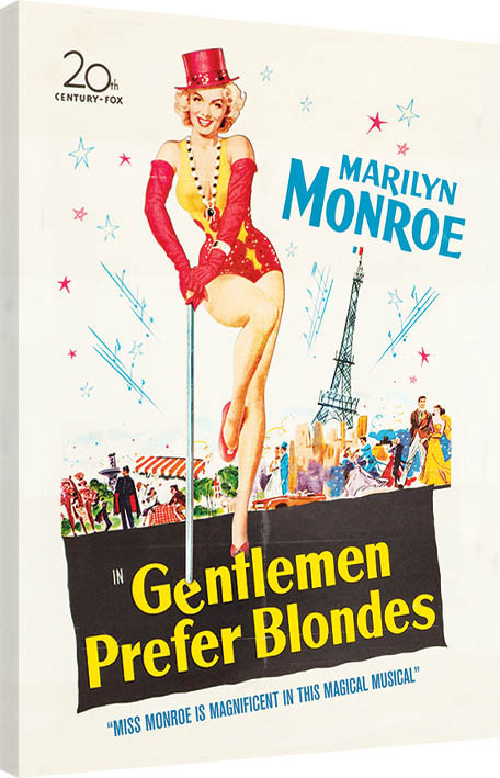 Obraz na plátně Marilyn Monroe - Gentlemen Prefer Blondes, (60 x 80 cm)
