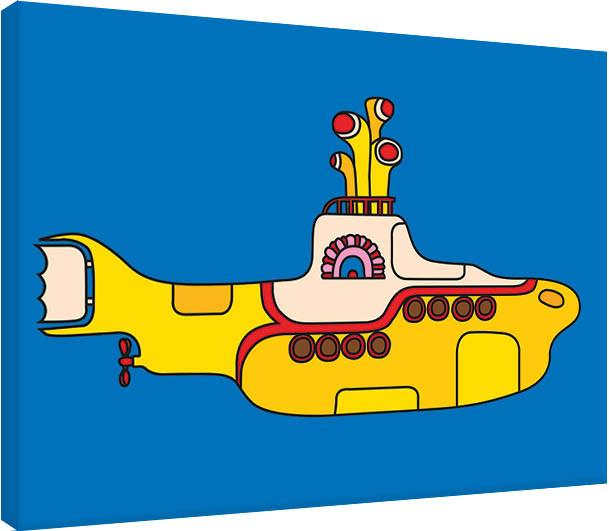 Obraz na plátně The Beatles - Yellow Submarine Bold, (80 x 60 cm)
