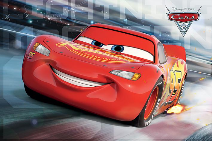 Plakát, Obraz - Auta 3 - Cars 3 - McQueen Race, (91,5 x 61 cm)