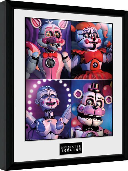 Obraz na zeď - Five Nights at Freddys - Sister Location Quad