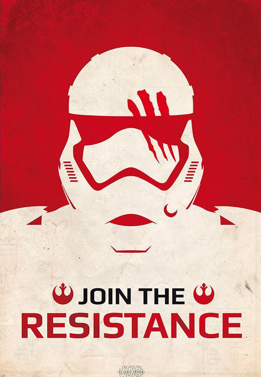 Plakát, Obraz - Star Wars VII: Síla se probouzí - Join the Resistance, (98 x 68 cm)