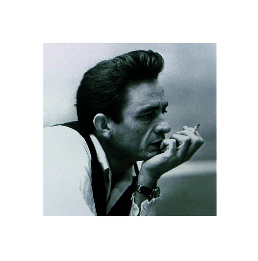 Plakát, Obraz - Johnny Cash - Cigarette, (40 x 40 cm)