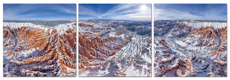 Obraz na zeď - Zasněžené hory, (120 x 40 cm)