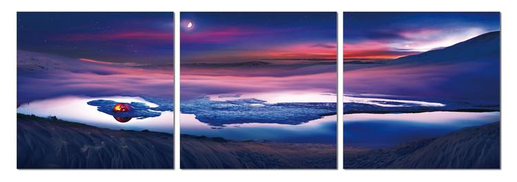 Obraz na zeď - Pohled do noční krajiny, (150 x 50 cm)