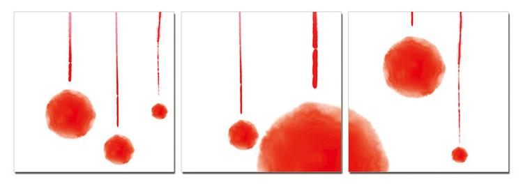 Obraz na zeď - Moderní design – červená abstrakce, (180 x 60 cm)