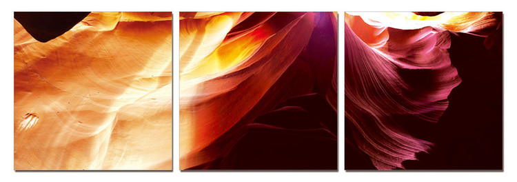 Obraz na zeď - Moderní design – zářivé abstrakce, (150 x 50 cm)