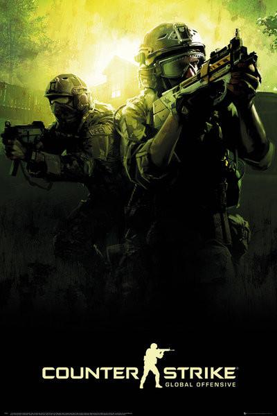 Plakát, Obraz - Counter Strike - Team, (61 x 91,5 cm)