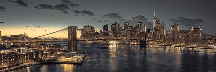 Plakát, Obraz - New York, (91,5 x 30 cm)