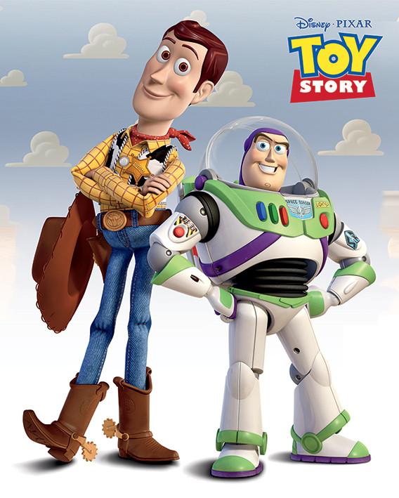 Plakát, Obraz - Toy Story: Příběh hraček - Woody & Buzz, (40 x 50 cm)