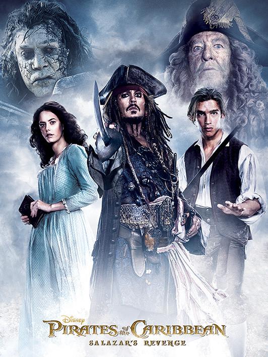 Obraz na plátně Piráti z Karibiku - Salazar's Revenge, (60 x 80 cm)