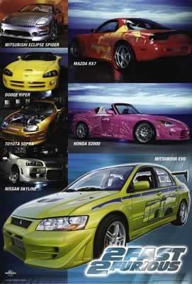 Plakát, Obraz - Rychle a zběsile 2 - Poster Collage Cars, (68,5 x 101 cm)