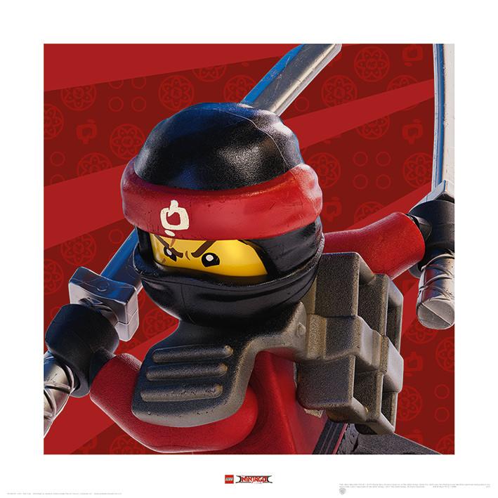 Obraz, Reprodukce - Lego Ninjago Film - Kai Crop, (40 x 40 cm)