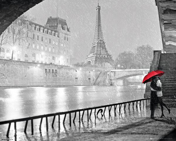Plakát, Obraz - Paris - Eiffel Tower Kiss, (40 x 50 cm)